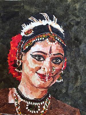 Bharatanatyam Painting - Bharatanatyam Dancer 1 by Mihira Karra