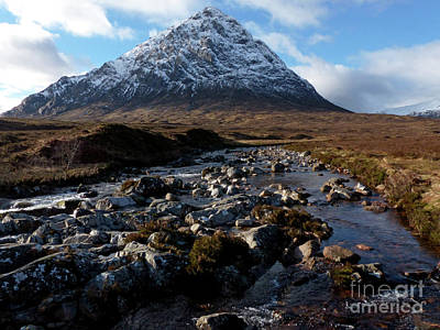 Photograph - Bhuachaille Etive Mor From River Coupall by Phil Banks