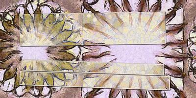 Bhungini Symmetry Flower  Id 16165-041903-68331 Art Print by S Lurk