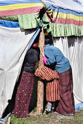 Photograph - Bhutan Tent Lookers by Paul Vitko