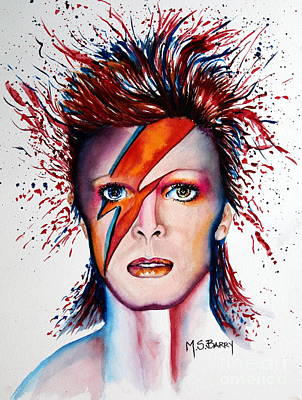 Painting - Bi Bi Bowie by Maria Barry