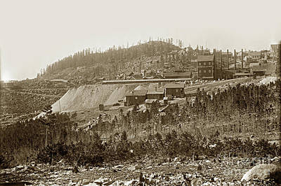 Photograph - Bi-metallic Mine - Granite, Montana Circa 1890 by California Views Mr Pat Hathaway Archives