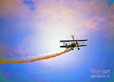 Photograph - Bi-plane And Wing Walker by Tom Jelen