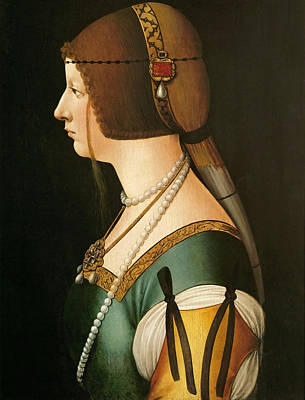 Painting - Bianca Maria Sforza by Workshop of Giovanni Ambrogio de Predis