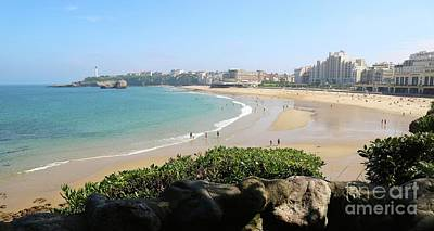 Photograph - Biarritz Beach Panorama by Carol Groenen