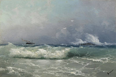 Painting - Biarritz by Ivan Konstantinovich Aivazovsky