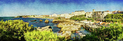 Photograph - Biarritz Old Port And Coastline - Vintage by Weston Westmoreland
