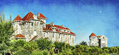 Photograph - Biarritz Seaside Villas- Vintage by Weston Westmoreland