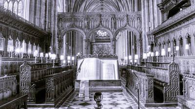 Photograph - Bible On Lectern by Jacek Wojnarowski