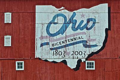 Photograph - Bicentennial Ohio Barn by Frozen in Time Fine Art Photography