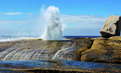 Photograph - Bicheno Blowhole 2 by Lexa Harpell