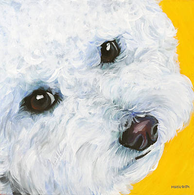 Bichon Frise Dog Painting - Bichon Frise by Melissa Smith