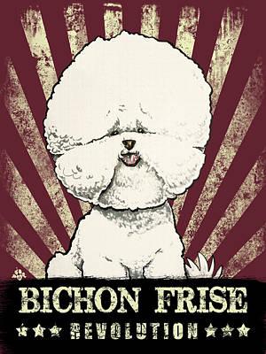 Amy Hamilton Animal Collage - Bichon Frise Revolution by John LaFree