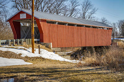Music Royalty-Free and Rights-Managed Images - Bickham  Covered Bridge by Jack R Perry