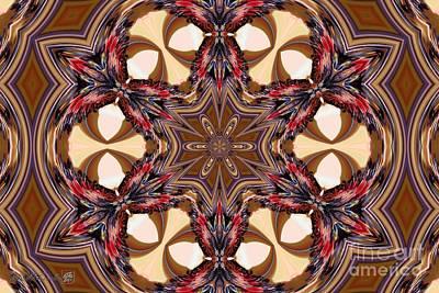 Digital Art - Bicolor Acorn Kaleidoscope by J McCombie