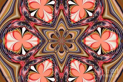 Digital Art - Bicolor Butterfly Wings Kaleidoscope by J McCombie