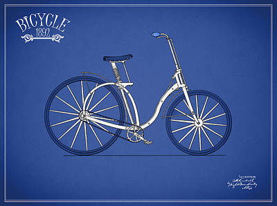Bicycle Photograph - Bicycle 1892 by Mark Rogan
