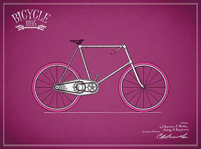 Bicycle 1895 Art Print by Mark Rogan