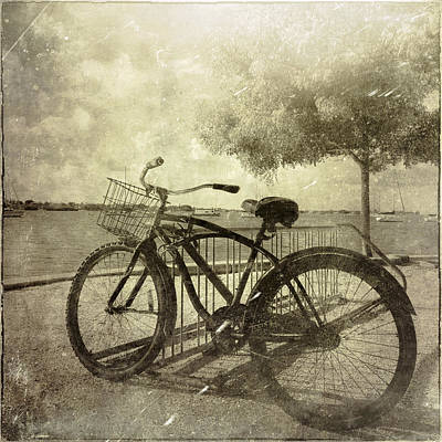 Vintage Bicycle Art Print by Skip Nall