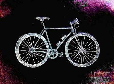 Spokes Drawing - Bicycle Abstract by Scott D Van Osdol