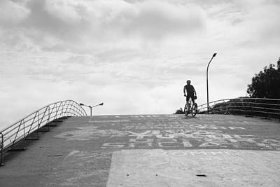 Photograph - Bicycle Across The Bridge by Silvia Bruno