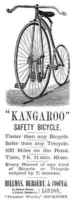 Penny Farthing Photograph - Bicycle Ad, 1885 by Granger