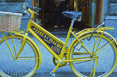Photograph - Bicycle Advertising by Allen Beatty