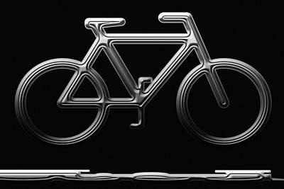 Metallics Digital Art - Bicycle by Aimee L Maher Photography and Art Visit ALMGallerydotcom