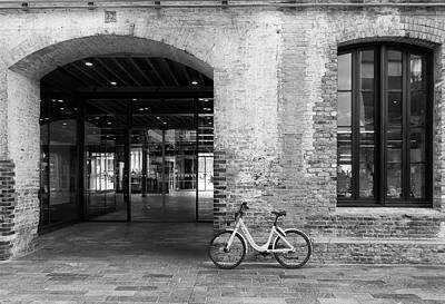 Photograph - Bicycle And Brick by Roger Lighterness
