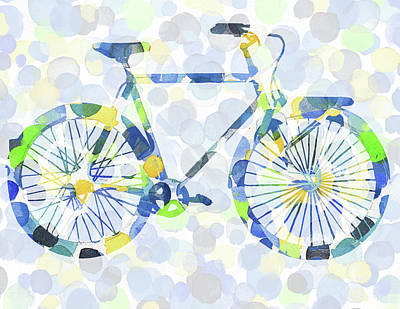 Painting - Bicycle And Dots by Irina Sztukowski