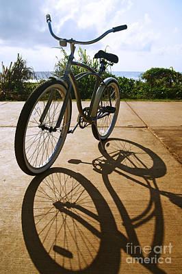 Bicycle And Shadow Art Print