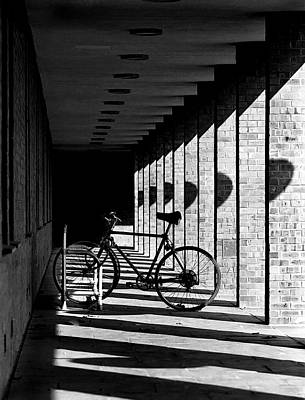 Bicycle And Shadows Art Print by George Morgan