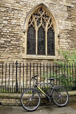 Photograph - Bicycle At Church by Jean Noren