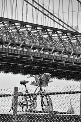 Photograph - Bicycle Beneath Bridge by Cate Franklyn