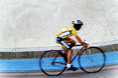 Photograph - Bicycle Blur by Jim DeLillo