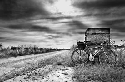 Bicycle Break Art Print