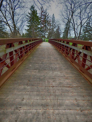 Photograph - Bicycle Bridge - Niagara On The Lake by Leslie Montgomery