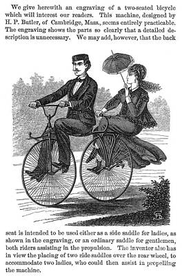 Photograph - Bicycle Built For Two by Granger