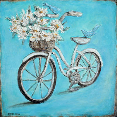 Two Bicycles Painting - Bicycle Built For Two by Sherry Montgomery