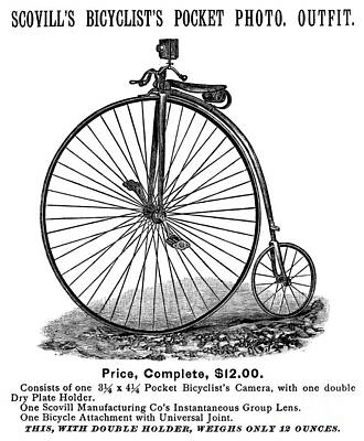 Penny Farthing Photograph - Bicycle Camera Ad, 1887 by Granger