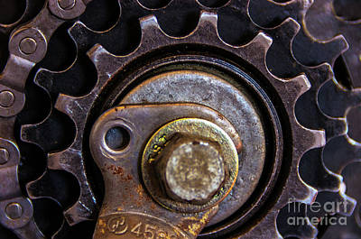 Jeffery Johnson Photograph - Bicycle Cog Chain Gear by Photo Captures by Jeffery