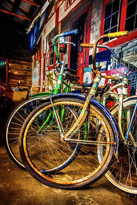 Photograph - Bicycle Collection II by Debra and Dave Vanderlaan