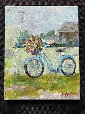 Painting - Bicycle Delivery by Kathleen Harrington
