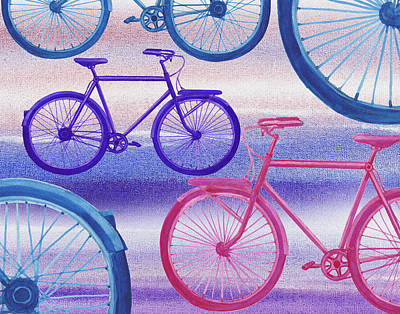 Painting - Bicycle Dream I by Irina Sztukowski