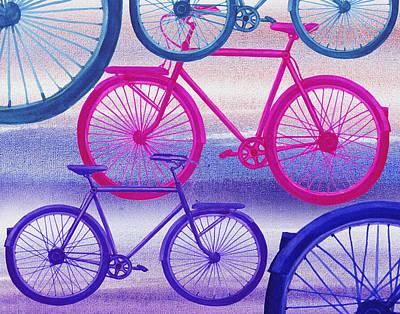 Painting - Bicycle Dream II by Irina Sztukowski