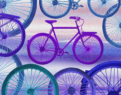 Painting - Bicycle Dream IIi by Irina Sztukowski