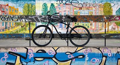 Bicycle Graffiti Art Print by Christos Koudellaris