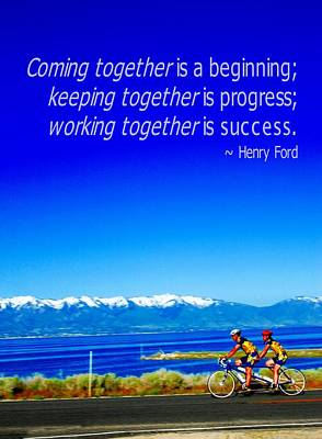 Photograph - Bicycle Henry Ford Quote by Bob Pardue