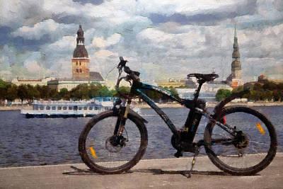 Walkway Digital Art - Bicycle II by Ronald Bolokofsky