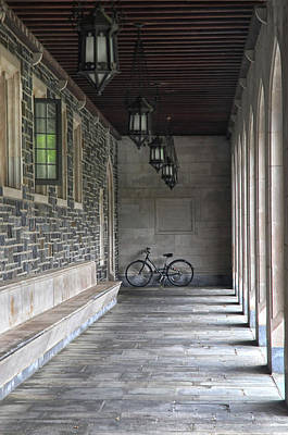 Photograph - Bicycle In A Passageway by Dave Mills